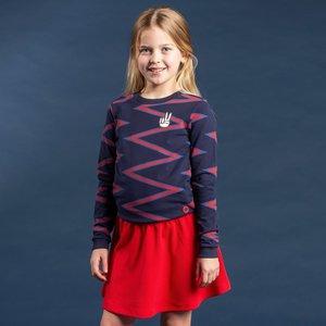 Quapi meisjes trui navy zigzag stripe tasha