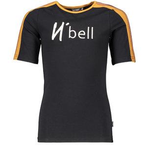 NOBELL meisjes t-shirt jet black kanoux