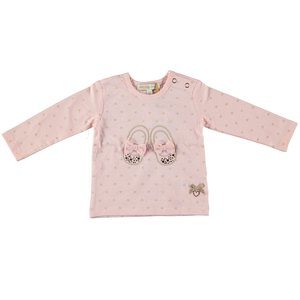LE CHIC meisjes longsleeve powder blush all-over hearts
