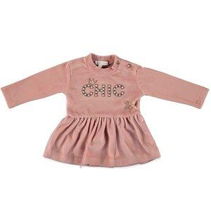 LE CHIC meisjes jurk victorian pink chic