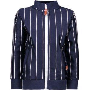 B.NOSY jongens vest ink blue white stripe
