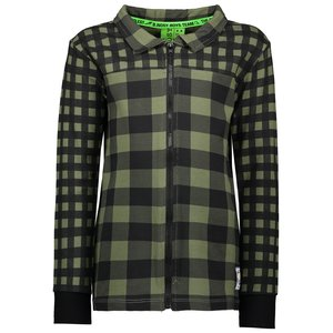 B.NOSY jongens vest check leaf green