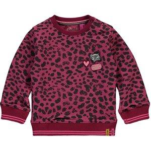 Quapi meisjes trui bordeaux leopard vanessa