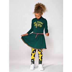FUNKY XS meisjes jurk bottle green