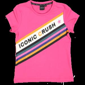 CRUSH DENIM meisjes t-shirt pink renate