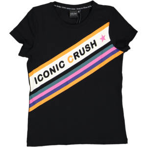 CRUSH DENIM meisjes t-shirt black renate
