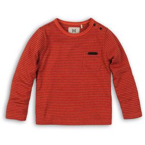 KOKO NOKO jongens longsleeve orange stripes