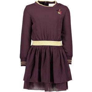 LE CHIC meisjes jurk plum golden rib