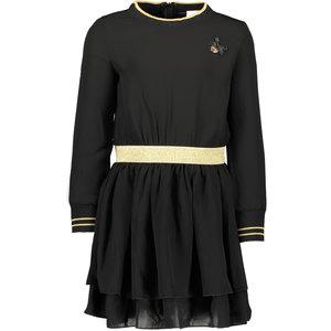 LE CHIC meisjes jurk black golden rib