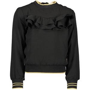 LE CHIC meisjes blouse black golden rib