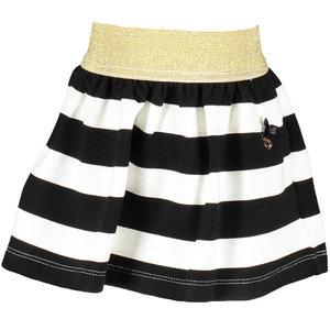 LE CHIC meisjes rok black relief stripe