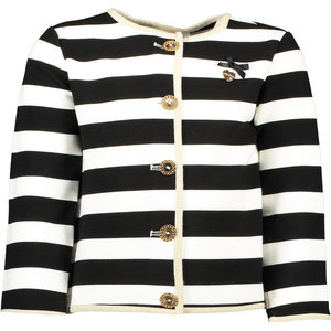 LE CHIC meisjes vest black relief stripe