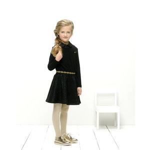 LE CHIC meisjes jurk black glitter top