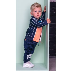 B.NOSY jongens jas ink blue white stripe