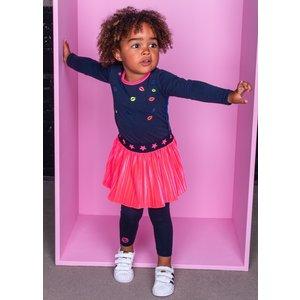 B.NOSY meisjes jurk shocking pink