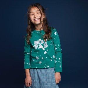 MOODSTREET meisjes trui green star