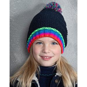 LE BIG meisjes hoed black iris
