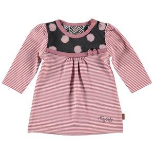 B.E.S.S. meisjes jurk pinstripe pink stripes