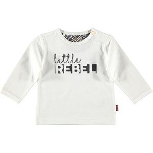 B.E.S.S. jongens longsleeve white little rebel