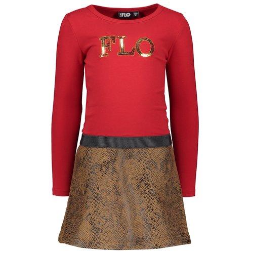LIKE FLO Like Flo meisjes jurk red
