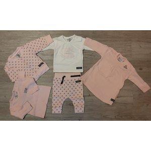 DIRKJE BABYKLEDING meisjes garderobe set light pink separate girls set