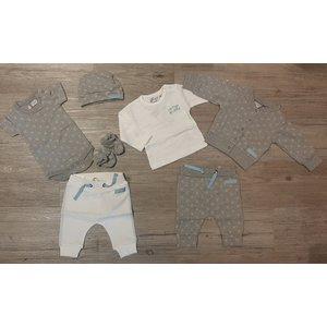 DIRKJE BABYKLEDING unisex garderobe set grey separate uni set