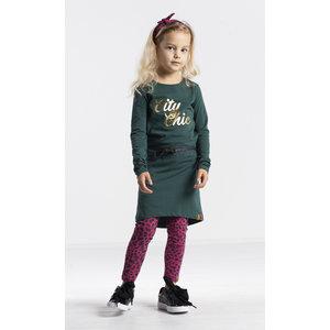 Quapi meisjes jurk bottle green tamia 3
