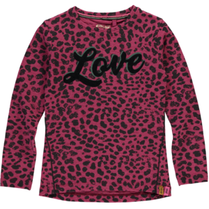 Quapi meisjes longsleeve bordeaux leopard theola