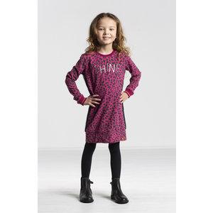 Quapi meisjes jurk bordeaux leopard thayenne