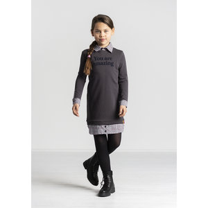 Quapi meisjes jurk dark grey thamar