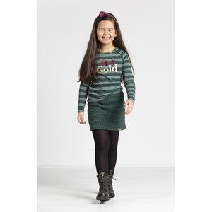 Quapi meisjes longsleeve bottle green big stripe theresia
