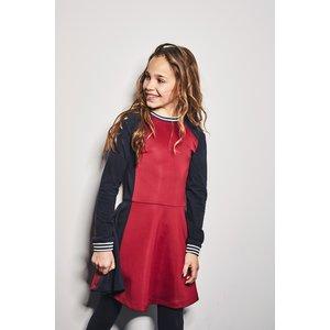 NOBELL meisjes jurk wine red matis