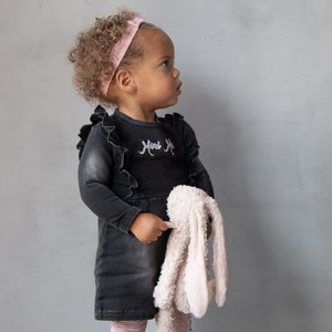 B.E.S.S. meisjes jurk black denim