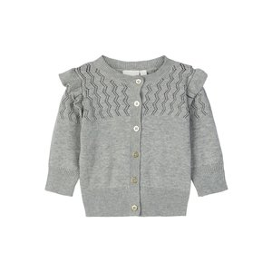 NAME IT meisjes vest grey melange