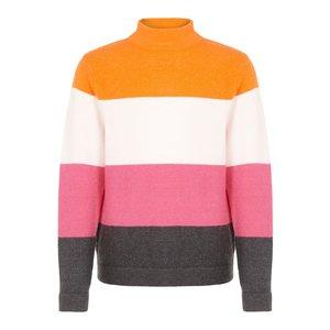 NAME IT meisjes trui mandarin orange stripes