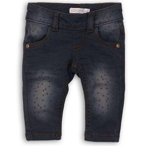 DIRKJE BABYKLEDING meisjes jeans navy jeans + aop so fresh hugs and cuddles