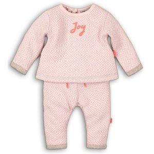 DIRKJE BABYKLEDING meisjes 2 delige set light pink so soft joy
