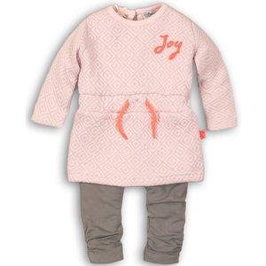 DIRKJE BABYKLEDING meisjes 2 delige set light pink + grey so soft joy