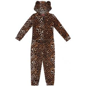 CLAESEN'S meisjes pyjama onesie brown panther