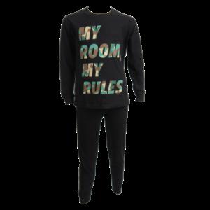 FUN2WEAR jongens pyjama black my room my rules