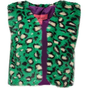 B.NOSY meisjes gilet fur green