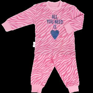 Frogs and Dogs meisjes pyjama print zebra