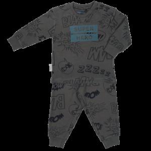 Frogs and Dogs jongens pyjama granite grey super hero