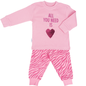 Frogs and Dogs meisjes pyjama parfait pink all you need