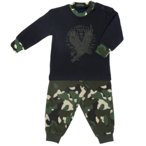 Frogs and Dogs meisjes pyjama dusky green camouflage