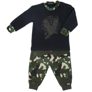 Frogs and Dogs jongens pyjama dusky green camouflage