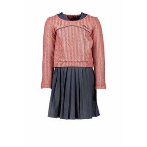 Nono meisjes 2in1 jurk mahogany