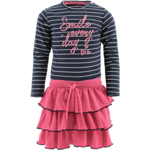 BORN TO BE FAMOUS meisjes jurk pink stripes
