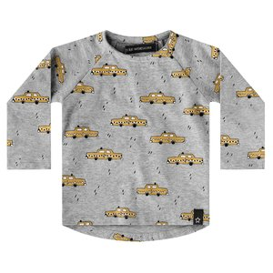 YOUR WISHES jongens longsleeve grey yellow taxi