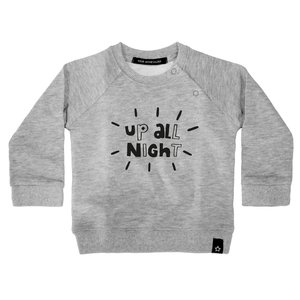 YOUR WISHES trui grey up all night